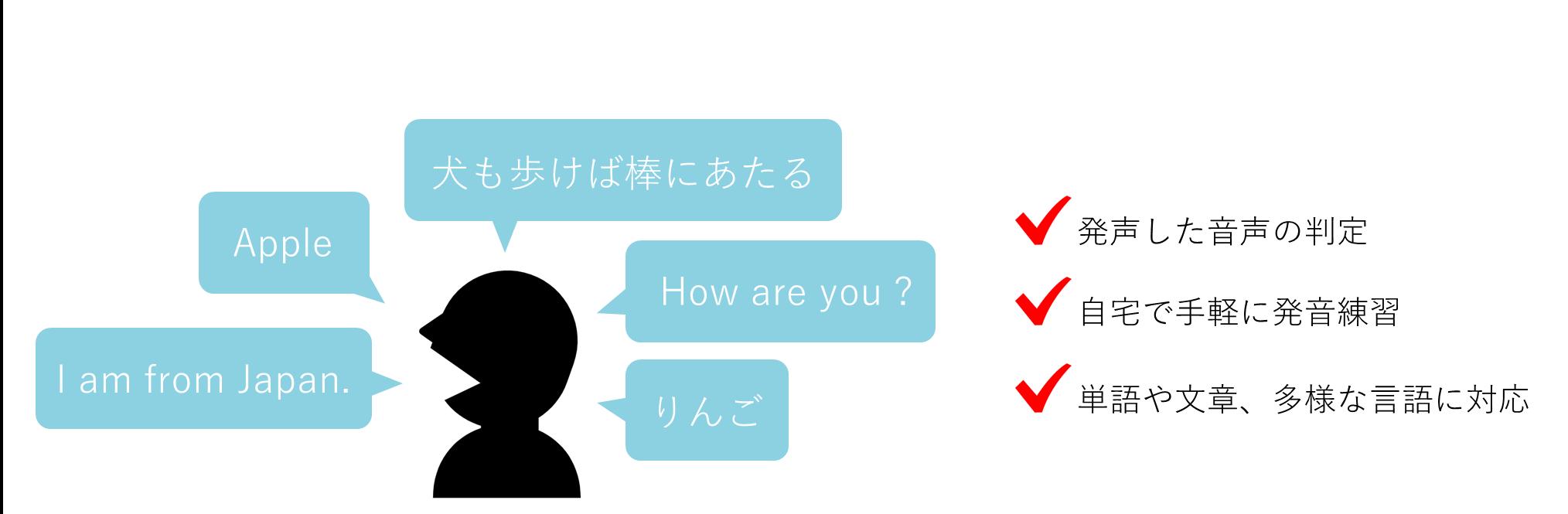 音声の認識と判定の特徴